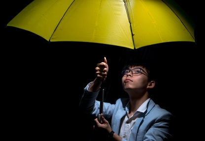 Mcc0076805 © Eddie Mulholland Hong Kong as the 20th Anniversary of the hand over to China approaches. PIC: Joshua Wong (20) leader of The Umbrella Movement.