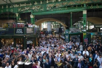Mcc0077498 © Eddie Mulholland Borough Market which re opens following the terrorist attack at London Bridge, where a minutes silence was observed.