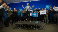 Ben0077187 © Eddie Mulholland Theresa May Campaigning in Norwich.