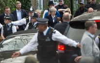 Mcc0077514 © Eddie Mulholland. PM May visits St Clement's church near Grenfell Tower.
