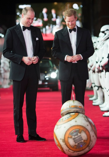 Mcc0080400 © Eddie Mulholland ROTA The Duke of Cambridge and Prince Harry attend The European Premiere of Star Wars: The Last Jedi, at the Royal Albert Hall on Tuesday, December 12. The premiere is hosted in aid of The Royal Foundation of The Duke and Duchess of Cambridge and Prince Harry.
