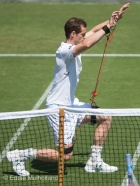 Fea0084032 © Eddie Mulholland Andy Murray, training at Wimbledon .