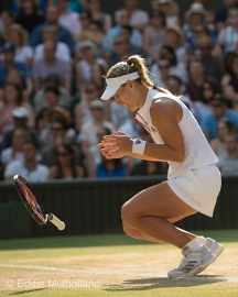Mcc0082379 © Eddie Mulholland Wimbledon 2018 . Ladies Final Angelique Kerber 'V' Serena Williams