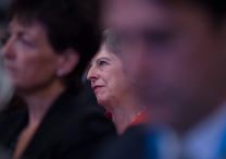 Mcc0084543 © Eddie Mulholland Conservative Party Conference, Birmingham. PIC: PM May In the conference hall.